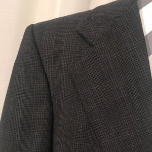 Christian Dior Monsieur plaid single breast blazer